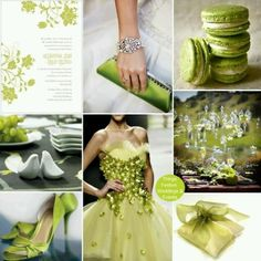 Lime green inspiration board