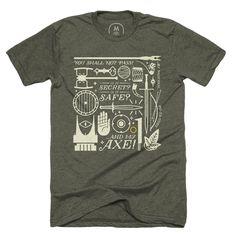 """Middle Earth Basics"" graphic designer t-shirt by Eric Liles.   Cotton Bureau"