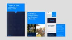 A spotlight on solar. Brochure Design, Branding Design, Branding Ideas, Identity Branding, Stationery Design, Label Design, Web Design, Graphic Design, Restaurant Identity
