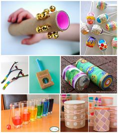 10 Simple Music Instruments Kids Can Make - Different and beautiful ideas Homemade Musical Instruments, Music Instruments, Fun Crafts For Kids, Diy For Kids, Toddler Crafts, Instrument Craft, Preschool Music, Music Crafts, Music And Movement