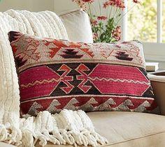 Cheyenne Kilim Lumbar Pillow Cover #potterybarn