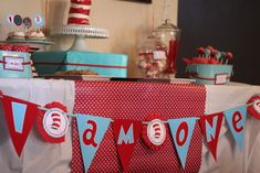"""Photo 4 of 37: First Birthday/Dr. Seuss / Birthday """"A Seuss-y party""""   Catch My Party"""