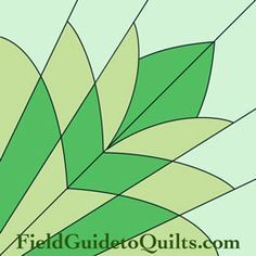 Diagrams for Dusty Miller, Cleopatra's Fan, Friendship Garden, Friendship Knot quilt blocks