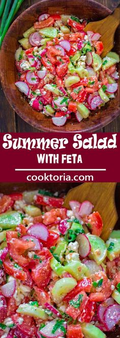 This refreshing and healthy Summer Salad with Feta makes a quick summer lunch that the whole family will enjoy. ❤ COOKTORIA.COM (pinned 1K times)