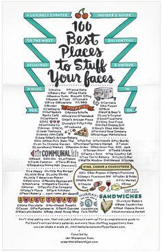 Portland's 100 Best Places to Stuff Your Faces 02 / written by Jen Stevenson, designed by Bureau of Betterment. via FPO Portland Eats, Portland Oregon, Portland Restaurants, Best Places To Eat, Oh The Places You'll Go, Food Places, Oregon Washington, Oregon Travel, Oregon Vacation