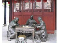 A Beautiful Mahjong Sculpture. #Mahjong