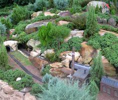 The Epcot German Pavilion Miniature Garden Railroad. DON'T MISS THIS ... it's WONDERFUL!