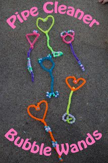 Super fast and easy to make ... but pipe cleaner holds a LOT of soap (which mostly runs down onto your hand) and produces a disproportionately small amount of bubbles. Too much soap and too messy to be very functional for us :-(
