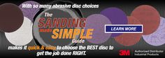 With so many abrasive disc choices The Sanding Made Simple Guide makes it quick & easy to choose the BEST disc to get the job done RIGHT. Just identify your material and application then click the recommended disc series to choose your size and grade.  Be sure to check out the NEW & IMPROVED 3M Elite Random Orbital Sanders.  To speak with an abrasives product expert call 877-774-8443 today or visit www.rshughes.com