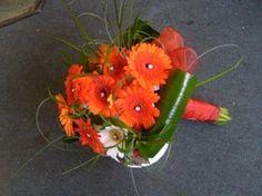 Orange Gerbera Bouquet on Arcade Florist