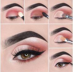 16 Natural Eye Makeup Tutorial For Beginners To Make You Amazing ! - Page 10 of . - 16 Natural Eye Makeup Tutorial For Beginners To Make You Amazing ! – Page 10 of 16 – Fashion Li - Pink Eye Makeup, Makeup Eye Looks, Eye Makeup Steps, Simple Eye Makeup, Eyeshadow Makeup, Makeup Tips, Makeup Ideas, Eyeshadow Palette, Makeup Tutorials