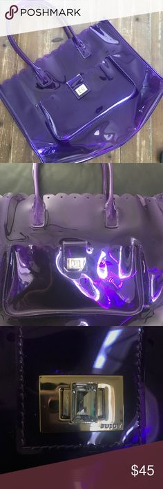 Juicy couture beach tote Juicy couture purple beach tote Juicy Couture Bags Totes