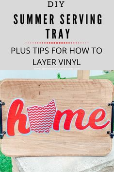 Tips for layering vinyl and creating a pretty summer serving tray. #diy #silhouettecameo #vinylcrafts #homedecor Vinyl Crafts, Vinyl Projects, Fun Projects, Project Ideas, Transfer Paper, Heat Transfer Vinyl, Silhouette Machine, Silhouette Cameo, Summer Diy