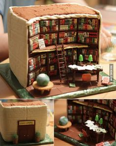 Library cake.