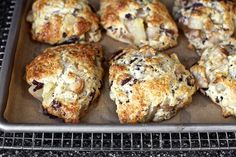 roasted pear + chocolate chunk scones • smitten kitchen