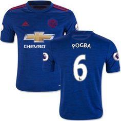 Manchester United 16-17 Paul Pogba 6 Udebane Trøje Kortærmet.  http://www.fodboldsports.com/manchester-united-16-17-paul-pogba-6-udebane-troje-kortermet.  #fodboldtrøjer