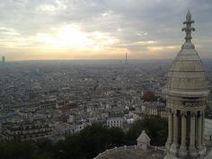 Tour Montparnasse et Tour Eiffel, vues du haut du Sacré-Coeur