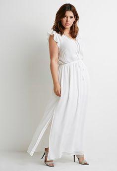 eec9b4b4929 Plus Size FOREVER 21+ Crochet-Trimmed Maxi Dress Dress Barn Dresses