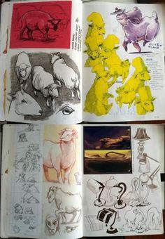 Animatedbuzz - Animation Art page Sketchbook Layout, Sketchbook Drawings, Sketchbook Pages, Sketchbook Inspiration, Art Journal Pages, Art Sketches, Art Drawings, Art Inspiration Drawing, Sketchbook Ideas