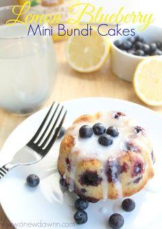 A New Dawnn: Think Spring With These Delicious Lemon Blueberry  Mini Bundt Cakes @Walmart #PourMoreFun #ad
