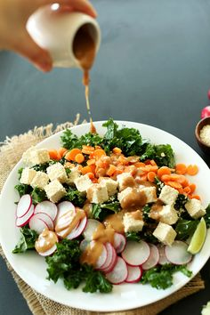 Crunchy Thai Kale Salad | 20 minutes, incredibly satisfying and entirely #vegan and #glutenfree!