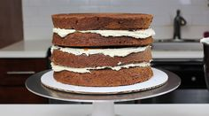 The best chocolate layer cake recipe! It's perfect for stacking, and can be made in one bowl!!