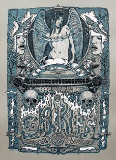 """Black Keys poster for their Montreal show, designed by David Welker: """"Canadians are sexy so I gave them a sexy poster."""""""