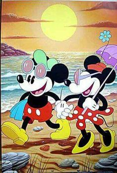 Disney, Mickey & Minnie, Beach, Live