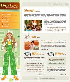 Day Care Website Templates by Di