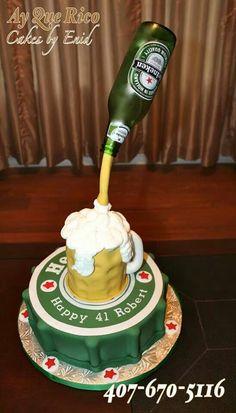 Heineken beer cake