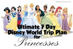 Ultimate 7 day Disney World Trip Plan for Princesses