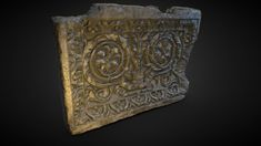 Roman decorated plaque by First Finger, Made Goods, Roman, Free, 3d, Stone, Artwork, Model, Rock