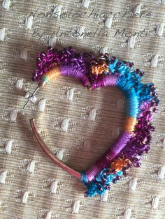 Heart earrings crochet / orecchini all' di nonsolochiacchiere