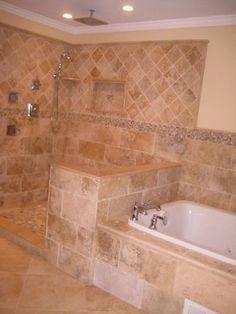 Irox Travertine Bathroom - traditional - bathroom - philadelphia - StoneMar Natural Stone Company LLC