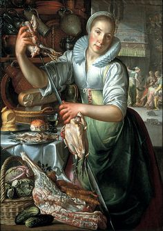 Joachim Wtewael (1566–1638)  TitleThe kitchen maid Date(circa 1620 - circa 1625)