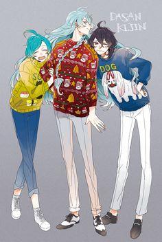 Hibiki Wataru,Shinkai Kanata y Sakuma Rei