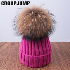 982f8f5f4644b Fashion Pompoms Winter Hat For Women Pom Poms Warm Skullies Beanies Women  Hat Cotton Knitted Beanies Female Hat Brand Thick Cap