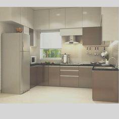 Simple Kitchen Design, Kitchen Room Design, Interior Design Kitchen, Kitchen Ideas Square Room, Kitchen Trolley Design, L Shaped Kitchen Interior, Indian Interior Design, Small Living Room Design, Modern Interior