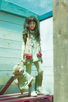 L:ú L:ú by @Miss Grant Official gipsy chic in beige #beige #missgrant #SS14 #spring #summer #springsummer2014 #childrens #kids #childrenswear #kidswear #kidsfashion #girls