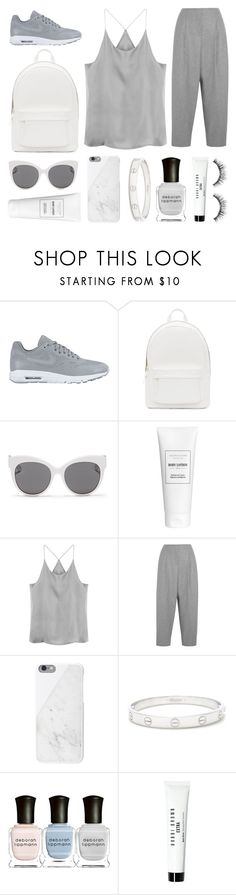 """""""sidetracked"""" by grey-eyes ❤ liked on Polyvore featuring NIKE, PB 0110, Blanc & Eclare, Acne Studios, Native Union, Cartier, Deborah Lippmann, Bobbi Brown Cosmetics, Sephora Collection and women's clothing"""