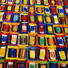 Esto me llego al corazón... arte con tela! No es genial!!! 😊 #arte #homi17 #milan #milano #desing #imdesing #imdesignhome