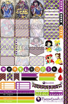 Death Princesses Printable Stickers by AnacarLilian on DeviantArt Free Planner, Planner Pages, Happy Planner, Planner Ideas, Planner Diy, Hourly Planner, Printable Planner Stickers, Journal Stickers, Diy Stickers