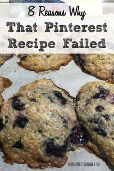 We've all been there. You find a great recipe on Pinterest, try to make it and it's a disaster. Here are 8 possible reasons why that Pinterest recipe failed