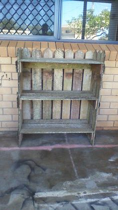 Book case out of old fence pallings