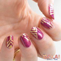 Model City Polish - Pour Me Another geometric nail art   The Dalai Lama's Nails