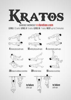 Kratos workout.