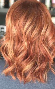 Auburn Hair Copper, Hair Color Auburn, Light Copper Hair, Light Auburn Hair Color, Red Hair With Blonde Highlights, Red Blonde Hair, Red Hair Bobs, Red Hair With Ombre, Blonde Hair With Copper Lowlights