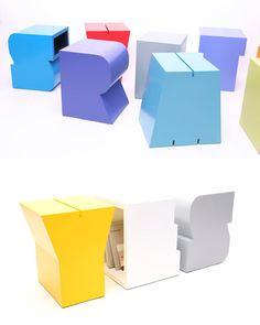 Alphabet Letter Storage Stools