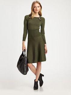 McQ Alexander McQueen - Modern Wool Sweaterdress - Saks.com Neiman Marcus Dresses, Mcq Alexander Mcqueen, Saks Fifth Avenue, Dresses For Work, Wool, Clothes For Women, My Style, Pretty, Modern