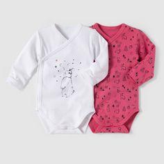 Body naissance 0 mois-3 ans (lot de 2) blanc rose R Mini | La Redoute